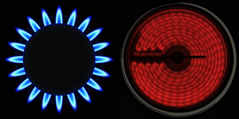 Gas and Electric Stove Burners